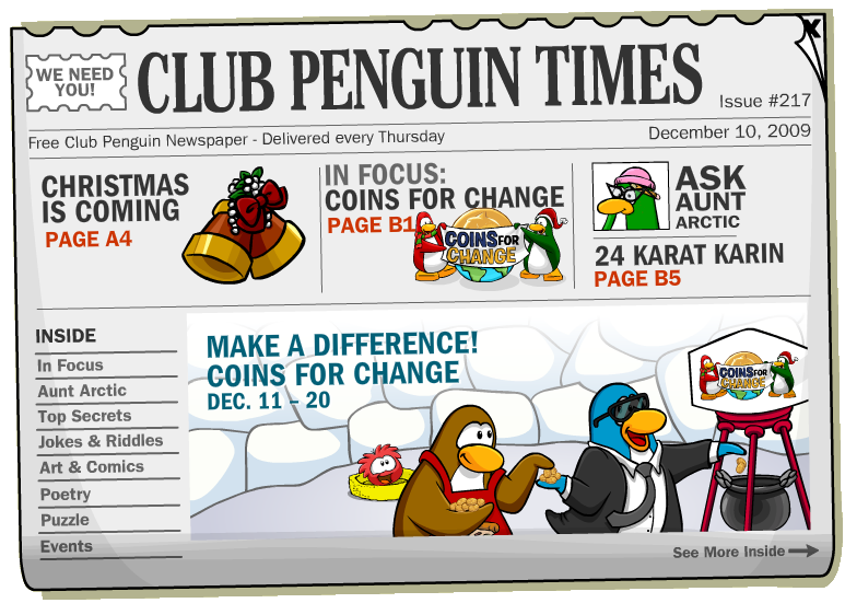Club penguin coins for change prizes